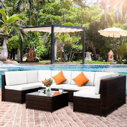 7PCS Rattan Outdoor Patio Furniture