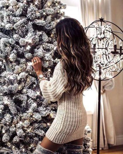 Balayage hair for Christmas morning