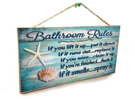 Beach sign bath wall plaque
