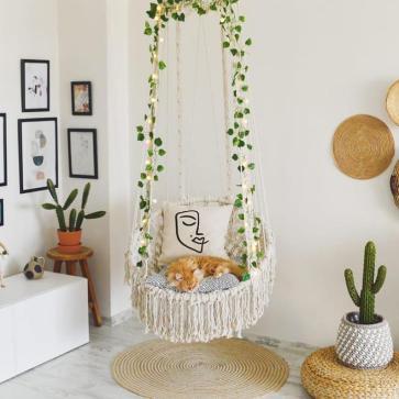 Boho Style Indoor & Outdoor Reading Swing