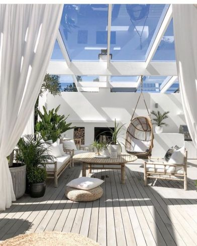 Bright roof top terrace decor inspiration