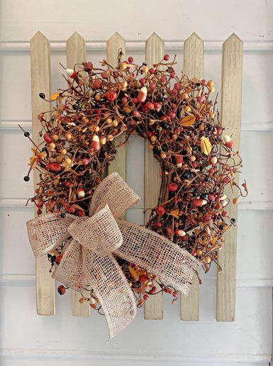 Candy Corn Wreath for front door decor