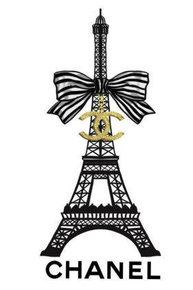 Chanel Eifel tower wallpaper aesthetics. Chanel parisian wallpaper.