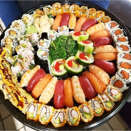 Mouth watering sushi charcuterie