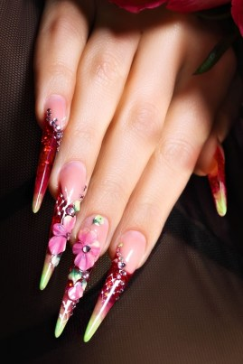 Classy and elegant stiletto acrylic nails design