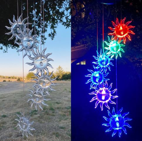 Colour changing small outdoor lights - solar powered