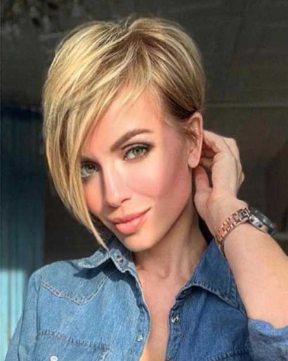 Cool short hairstyle for Christmas