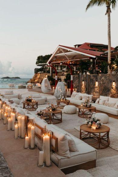 Cozy luxury beach outdoor living space