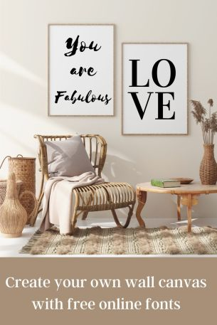 Create your own wall canvas with free online fonts