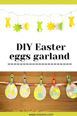DIY Easter eggs garland