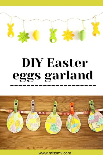 DIY Easter eggs garland