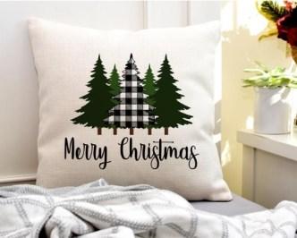 DIY Merry christmas pillowcase