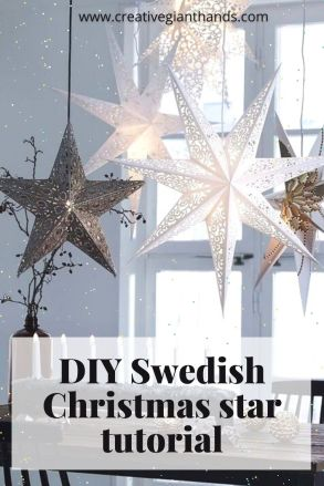 DIY Swedish Christmas star tutorial