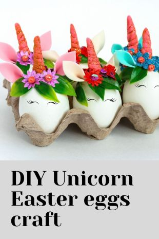 DIY Unicorn Easter eggs craft