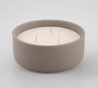 Debossed Ceramic Jar 3-Wick Candle