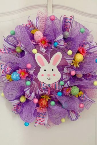 Easter Bunny spring wreath