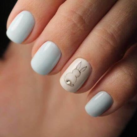 Easter elegant short manicure