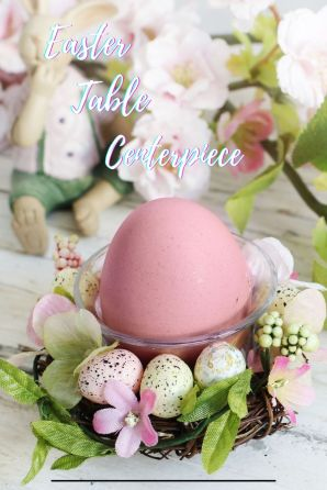 Easter table centerpiece