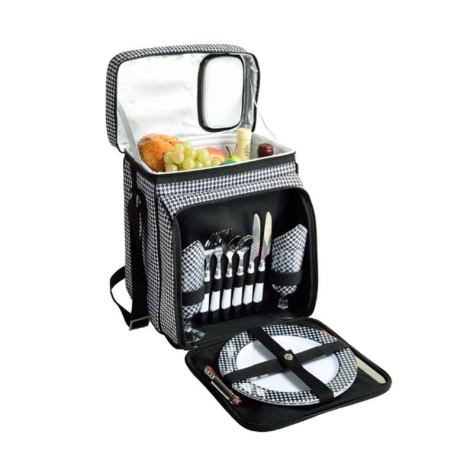 Equipped Picnic Basket Cooler For Two