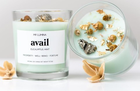 Eucalyptus scented candle for anxiety