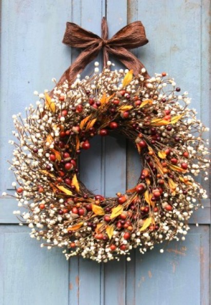 Rustic Wreath for Thanksgiving decor