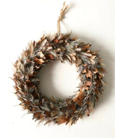 Feather wreath Feather wall art Farmhouse wreath Farmhouse decor Country wreath Shabby chic wreath Door wreath Front door wreath