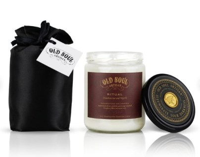 Frankincense and myrrh scented candle