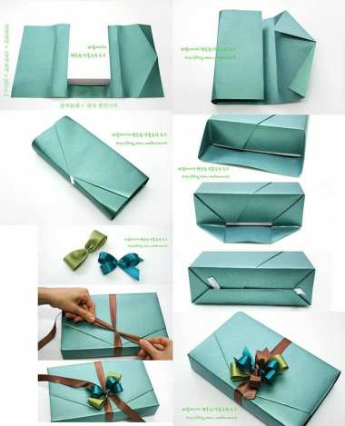 Glam envelope style gift wrapping idea