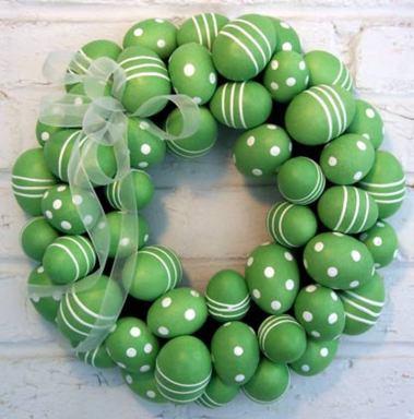 Green Easter Egg Wreath