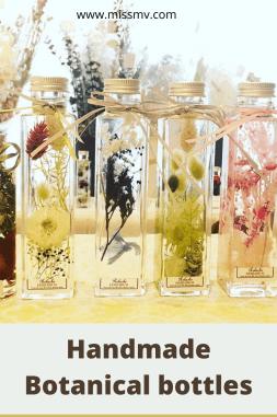 Handmade Botanical bottles