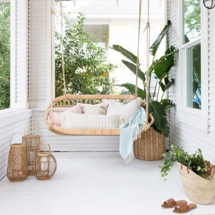 Handmade Natural Rattan Swinging Seat Indoor or Outdoor