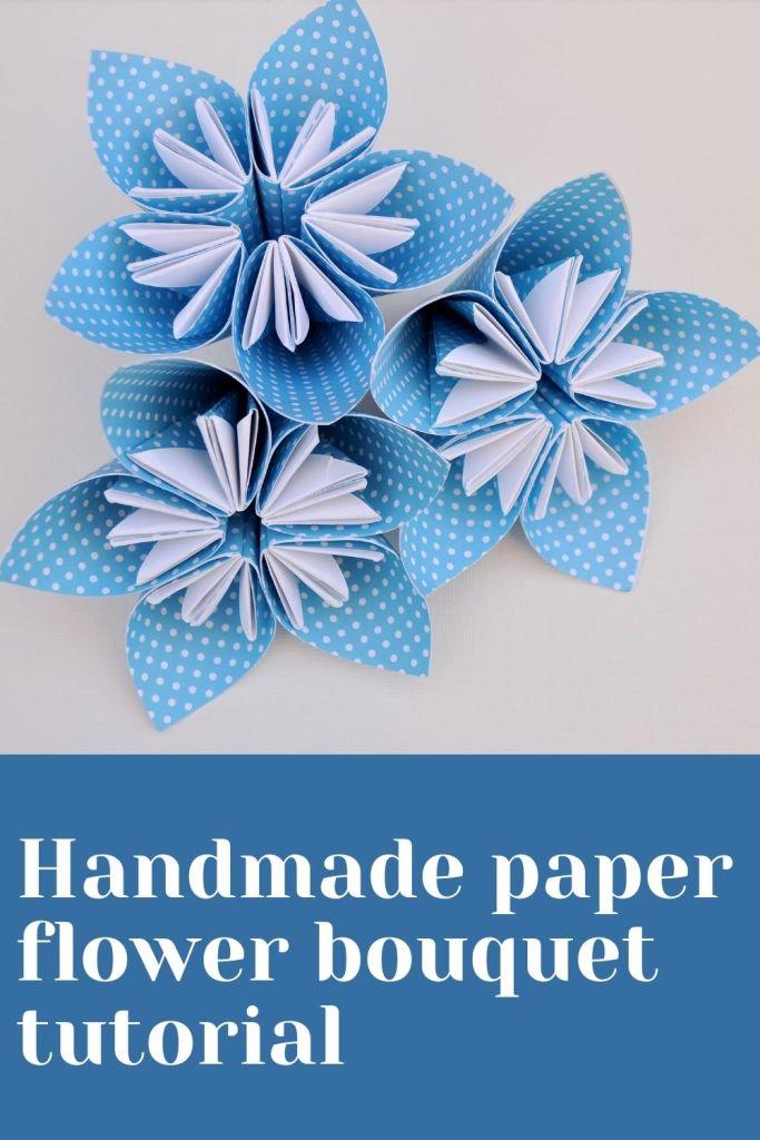 Handmade paper flower bouquet tutorial