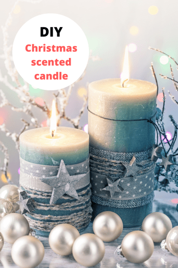 Handmade scented candle for Christmas gift ideas