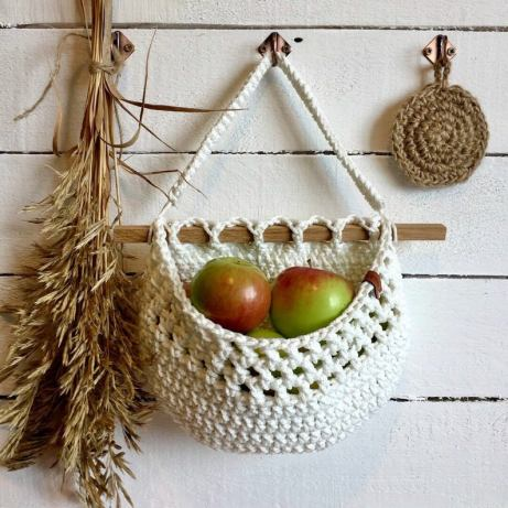 Hanging fruit basket wall Nordic decor