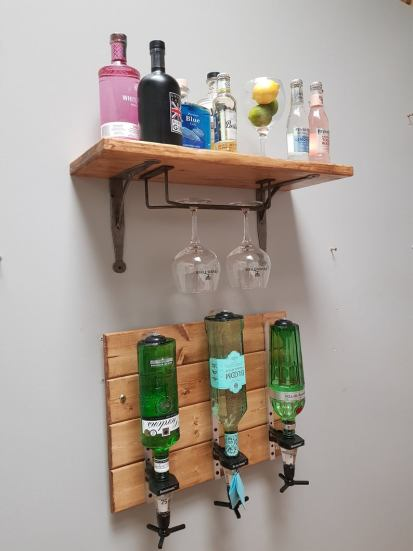 Home bar display spirits
