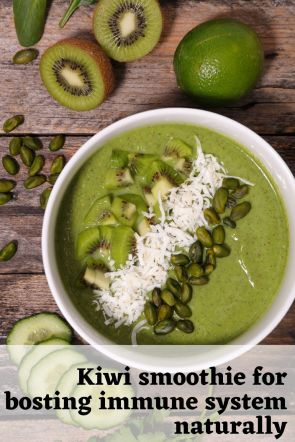 Kiwi smoothie for bosting immune system naturally