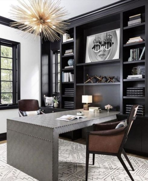 Luxury spacious home office inspiration