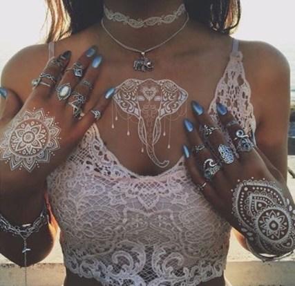 Mandala and Elephant henna tattoo  design