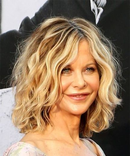Medium length hairstyle for over 50