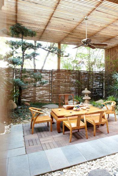 Minimalist garden decor