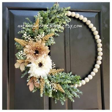 Modern Wreath with Eucalyptus Greenery