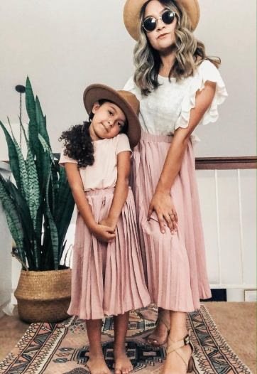Mommy and me matching dresses for the spring season