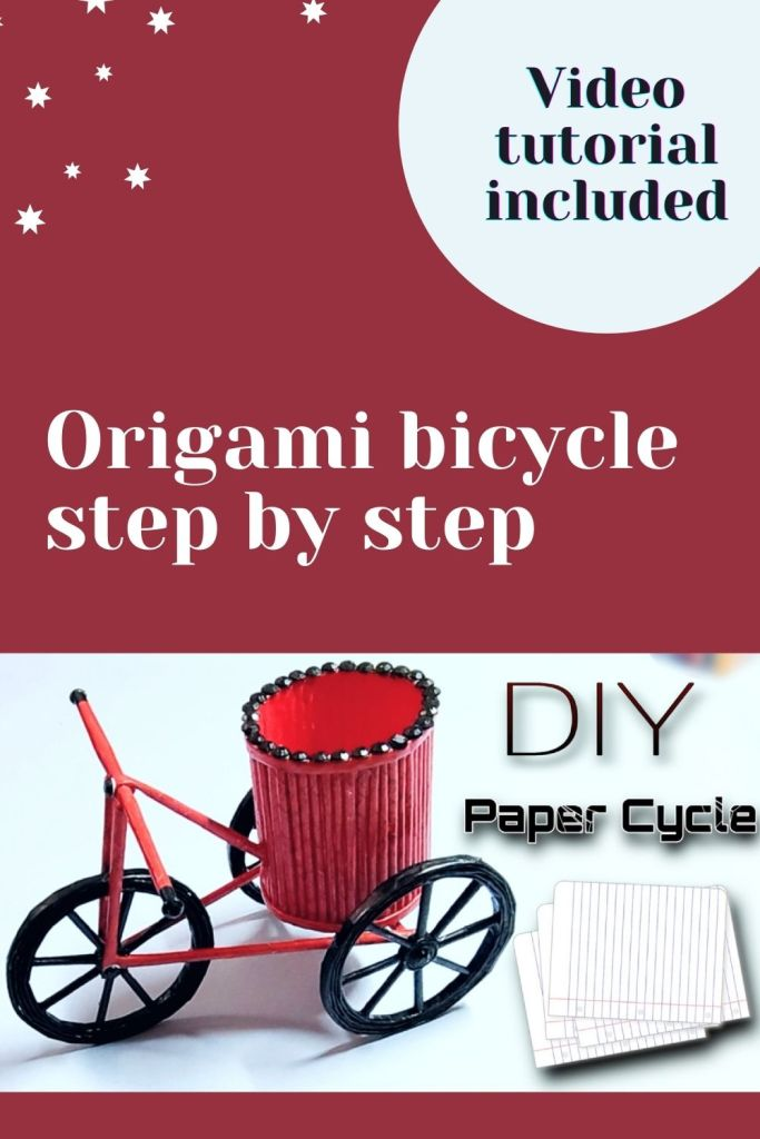 Origami bicycle step by step