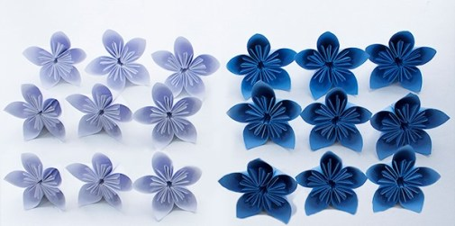 Pack of individual paper flowers