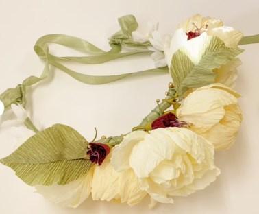 Paper Flower Crown-Paper Flower Headband