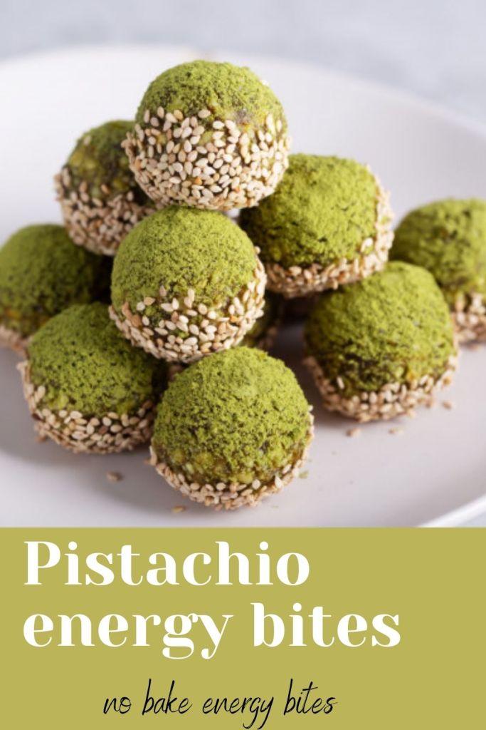 Pistachio energy bites