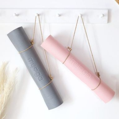 Plain Yoga Mat with carrier straps
