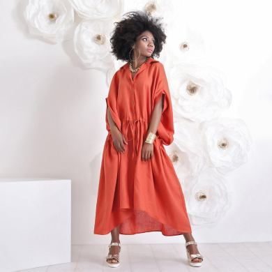 Plus size Linen Robe