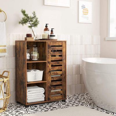 Rustic Bathroom Floor Cabinet Industrial Style Furniture