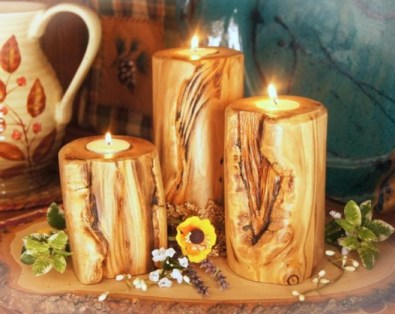 Rustic Centerpiece. christmas candle holder centerpieces